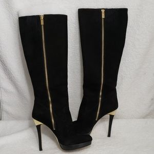 Michael Kors Women's Knee High Suede Boots Size 8